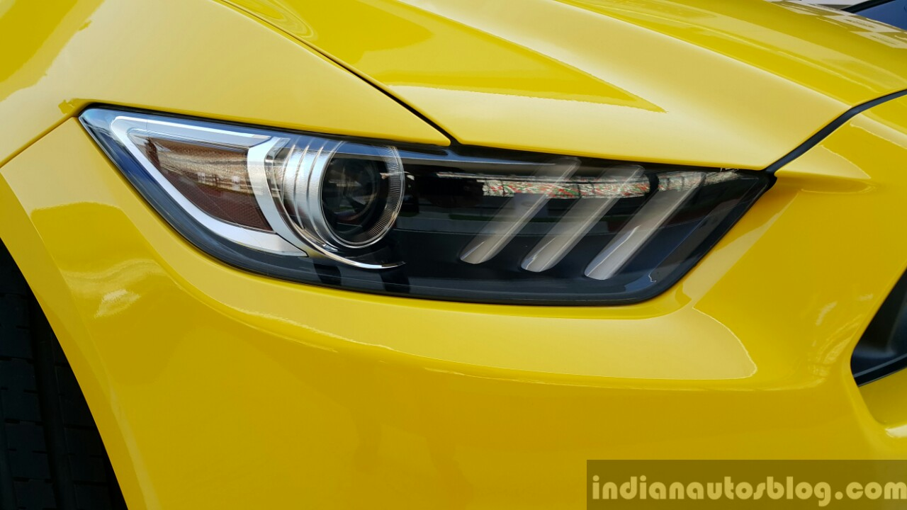 2016 Ford Mustang GT in India headlamp First Drive Review