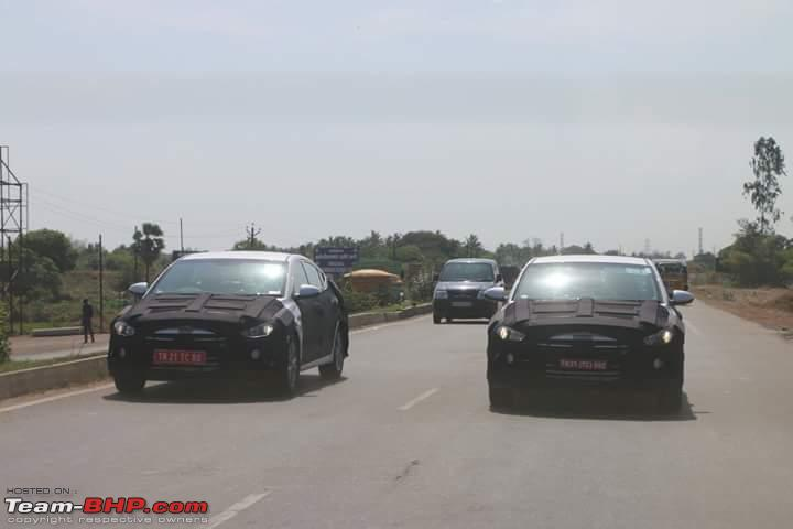 2016 Hyundai Elantra spy shot India