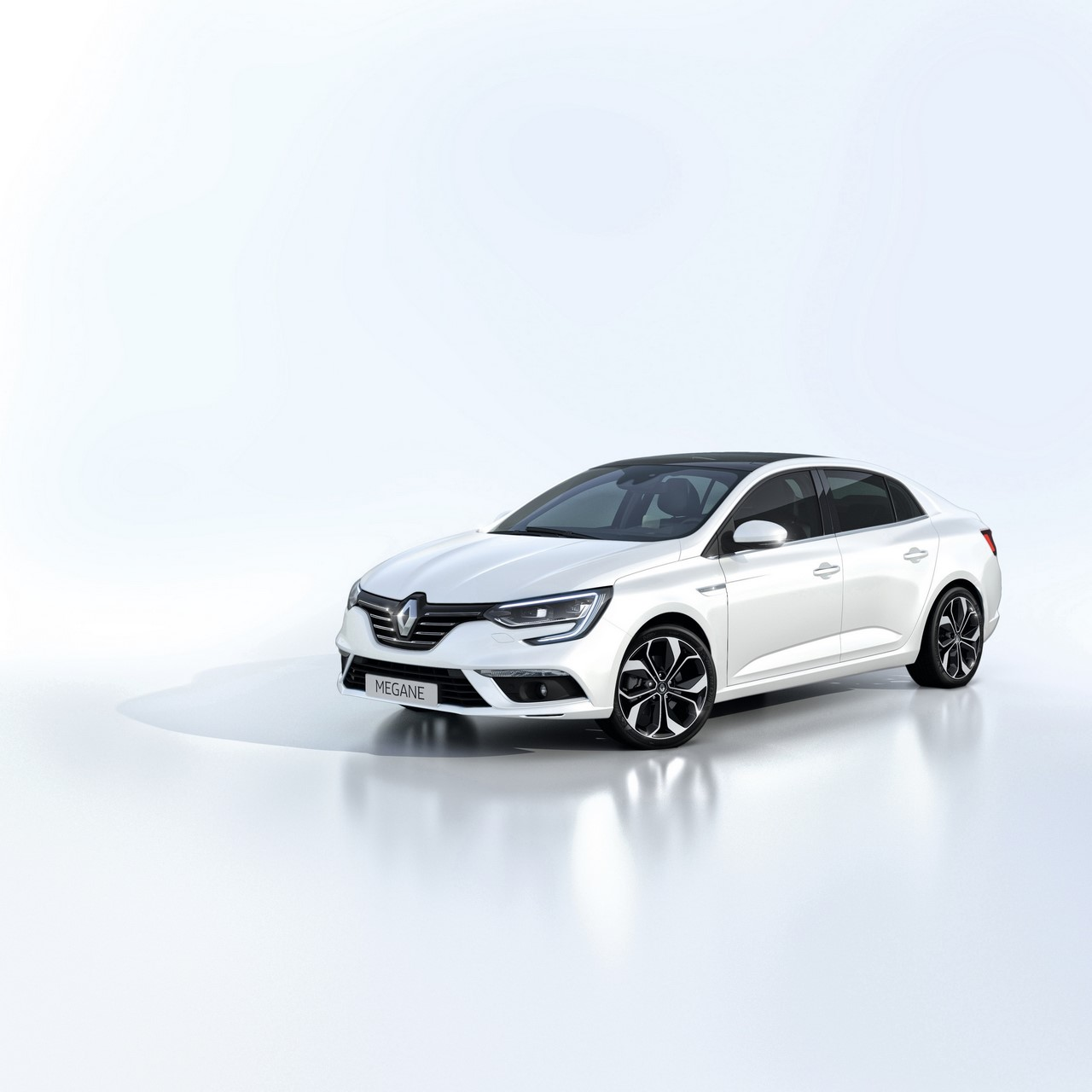 2016 Renault Megane Sedan front three quarters studio image