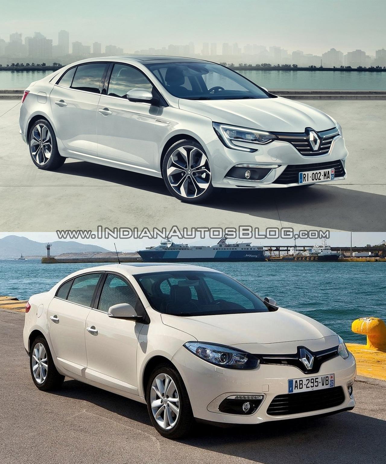 2016 Renault Megane Sedan vs. Renault Fluence front three quarters right side
