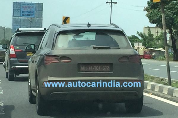 2017 Audi Q5 rear spy shot India