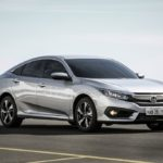 2017 Honda Civic front three quarter launched in Brazil