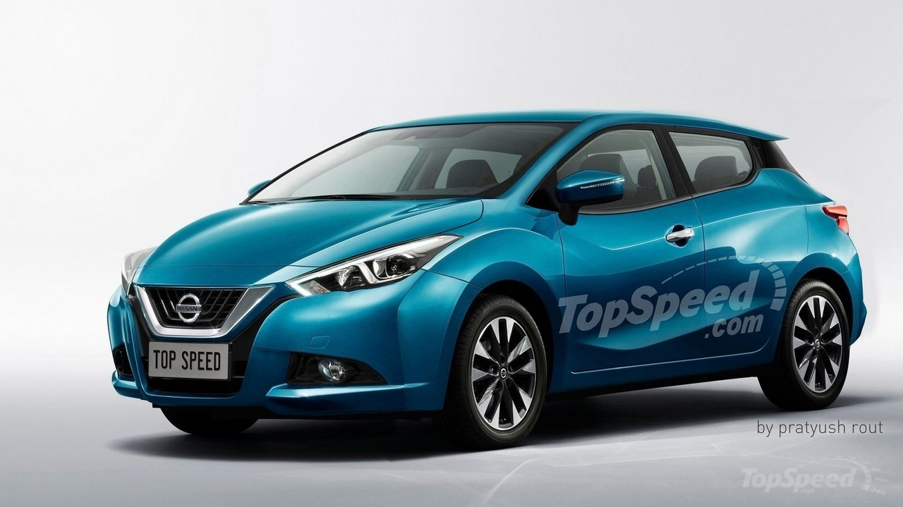 2017 Nissan Micra front three quarters rendering
