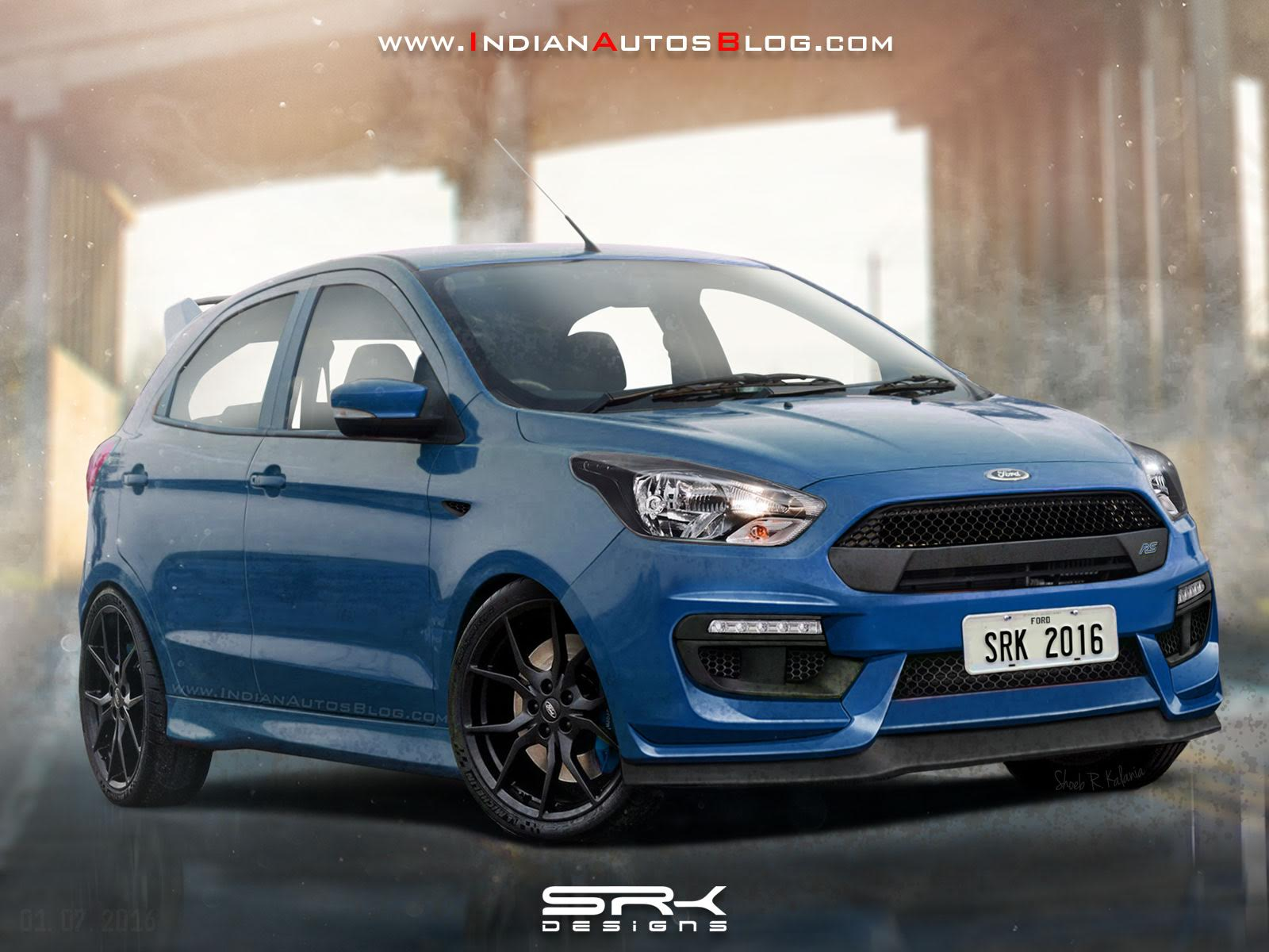 Ford Figo RS front Rendering