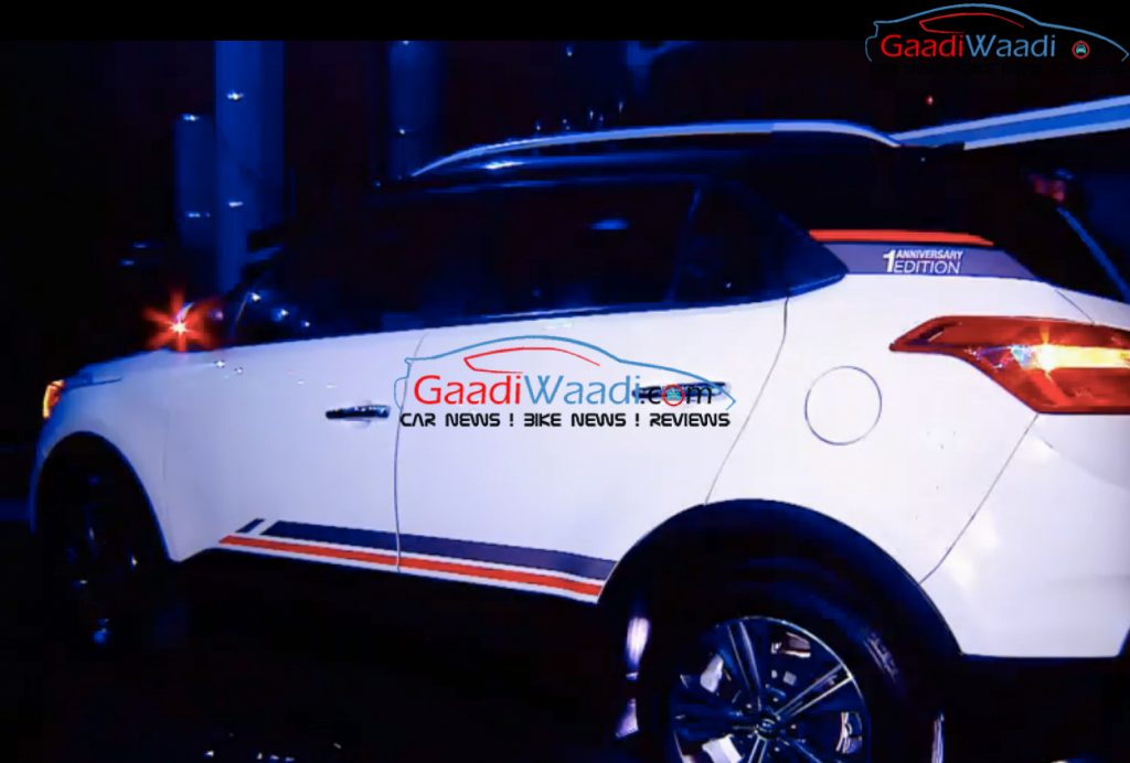 Hyundai Creta Anniversary Edition side photographed