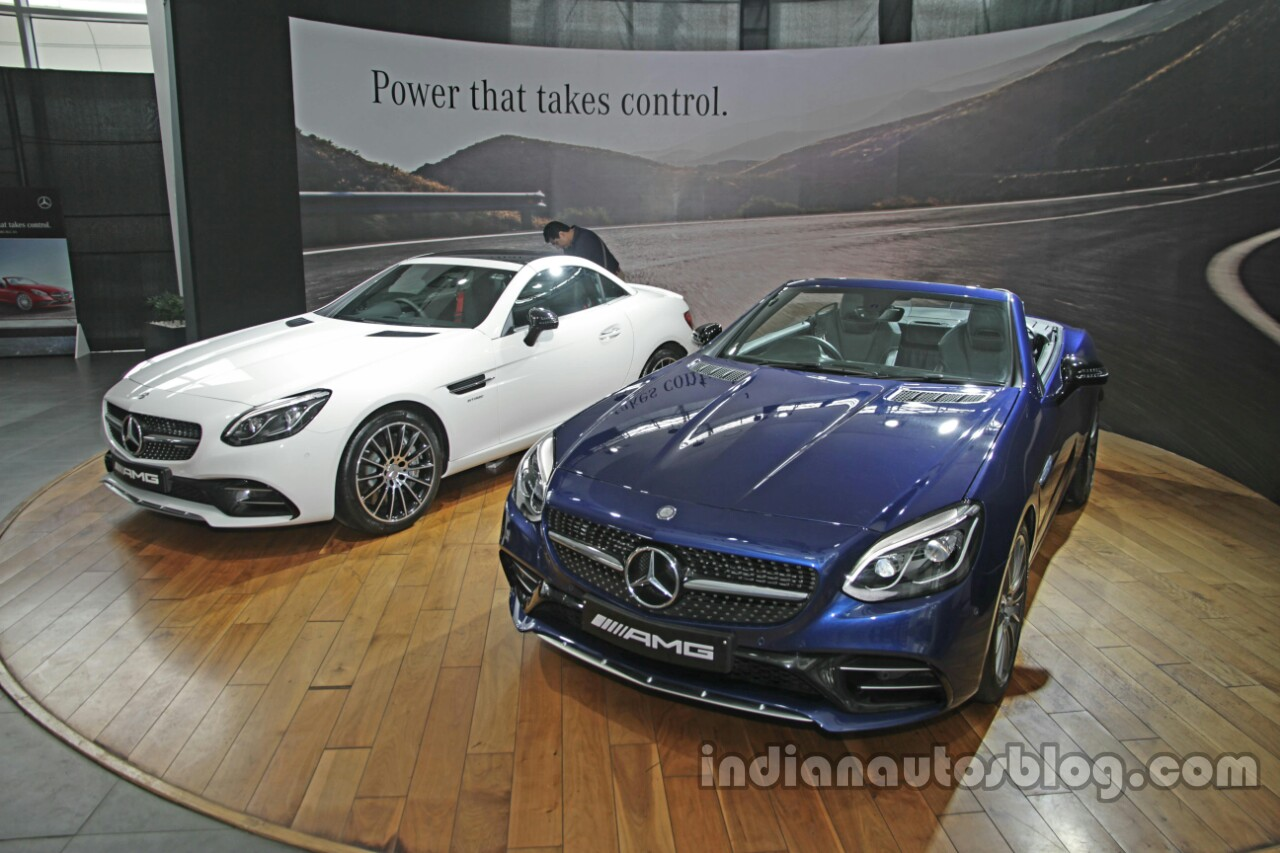 Mercedes-AMG SLC 43 blue and white launched in India