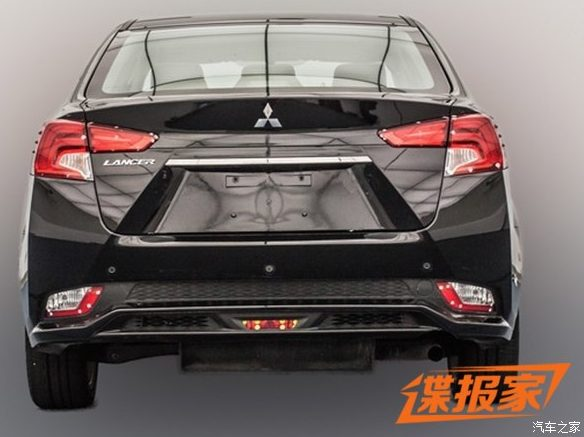 Mitsubishi Lancer facelift rear with revolutionary styling leaked