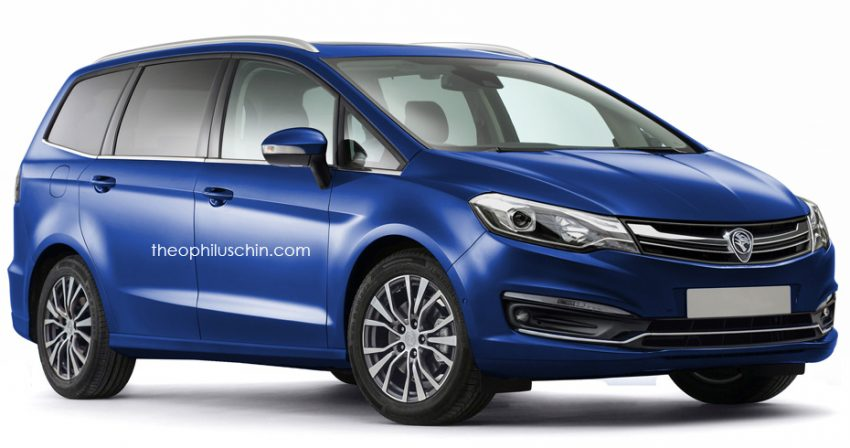 Next-gen proton Exora front three quarter inspired by Proton Perdana Rendering