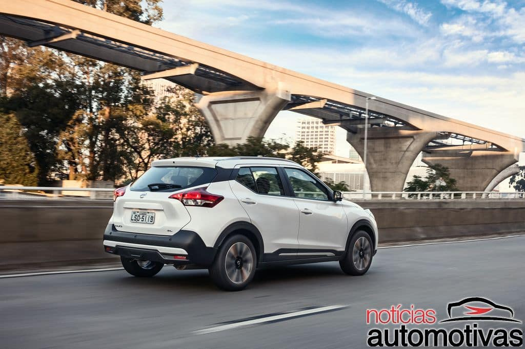Nissan Kicks official image rear three quarters in motion