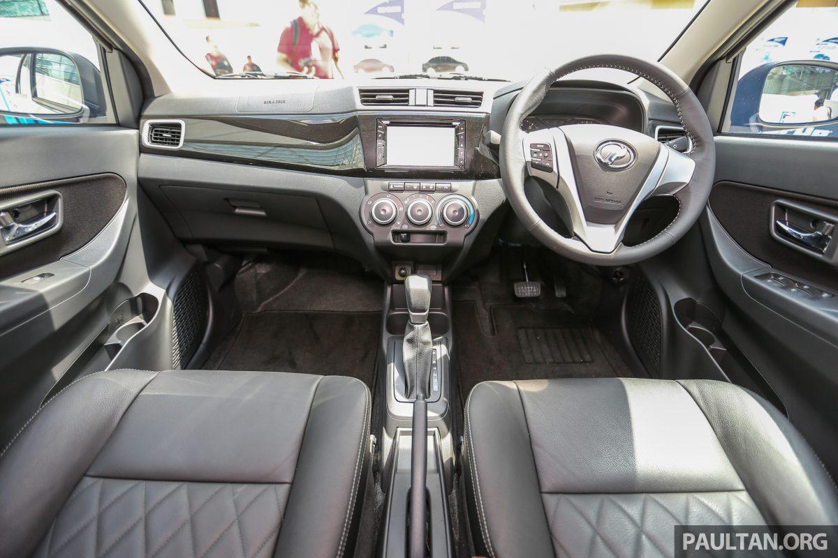 Perodua Bezza sedan dashboard launched for sale in Malaysia
