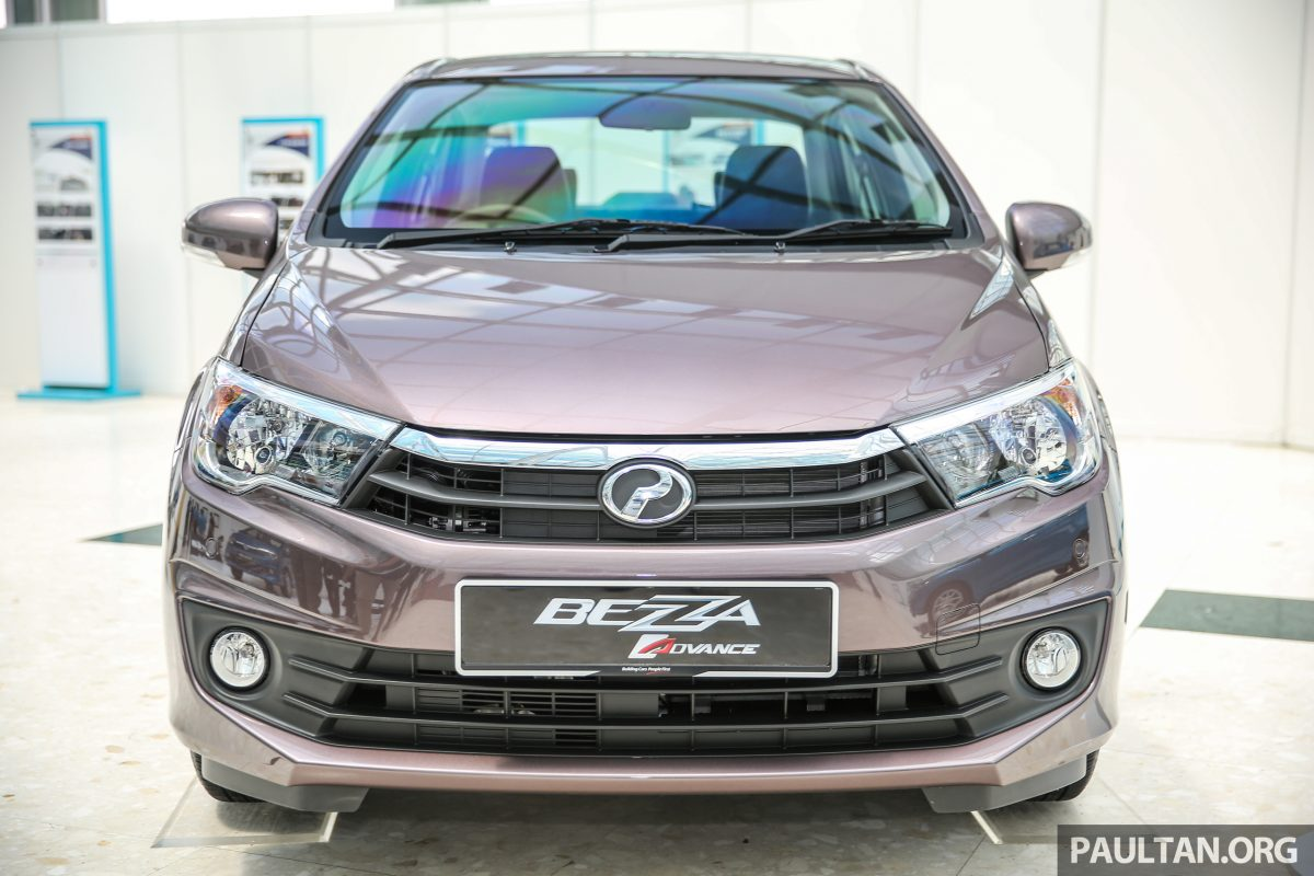 Perodua Bezza sedan front launched for sale in Malaysia