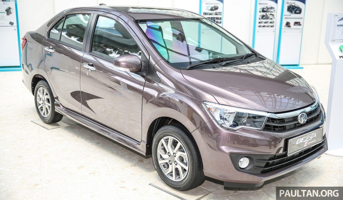 Perodua Bezza sedan front quarter launched for sale in Malaysia