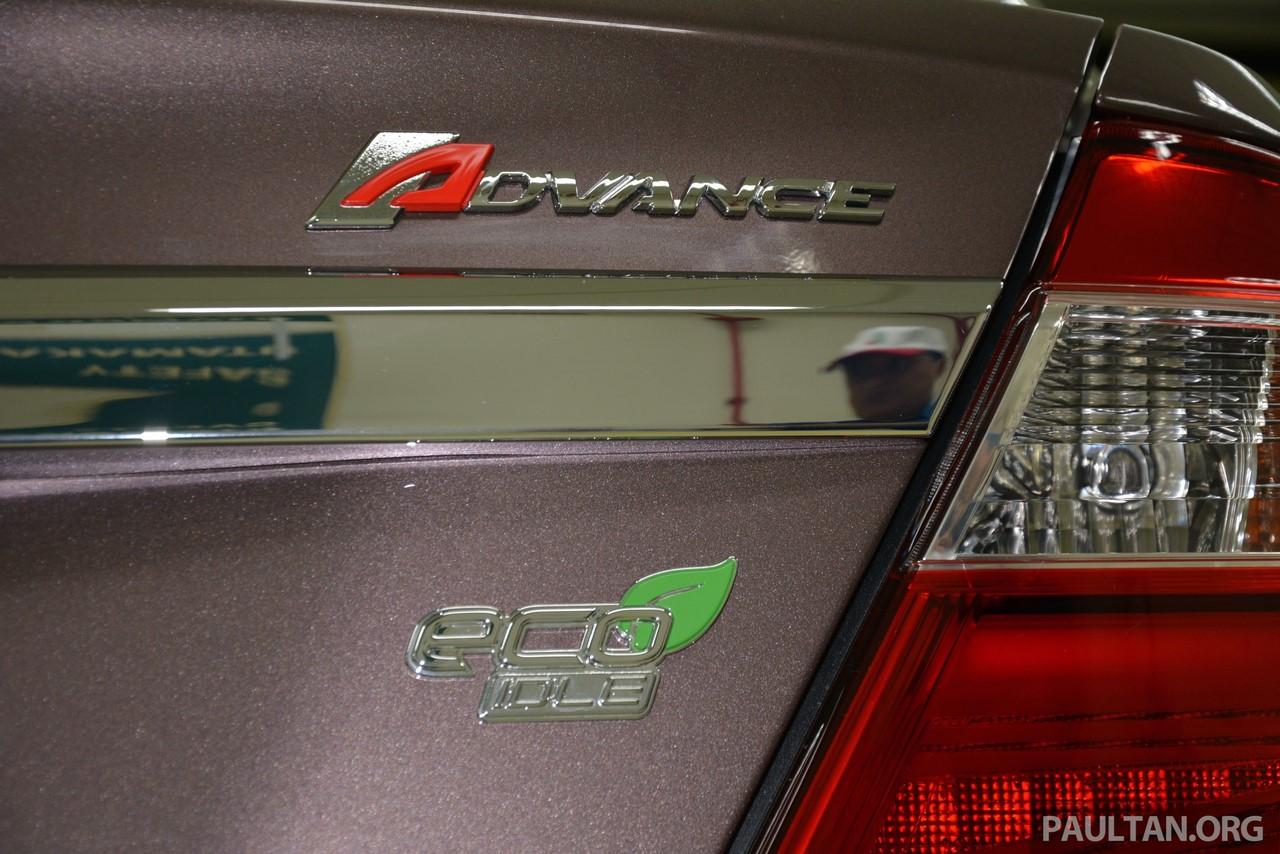 Perodua Bezza tailgate badge