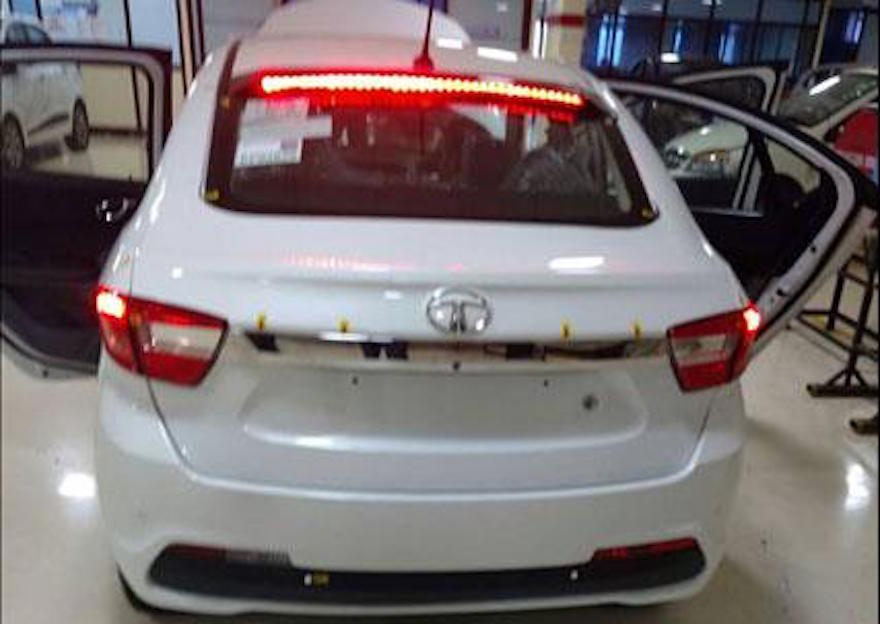 Production Tata Kite 5 rear photographed