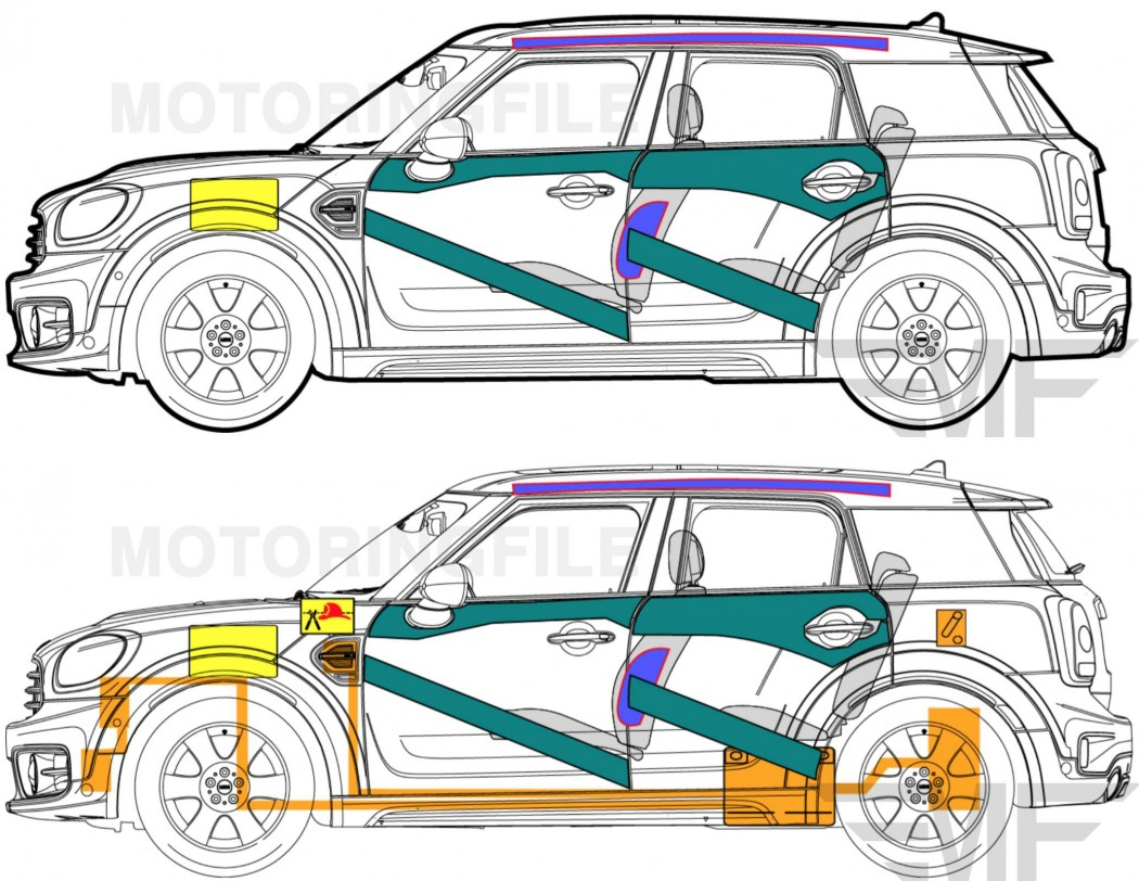 Second generation MINI Countryman (MINI F60) structure