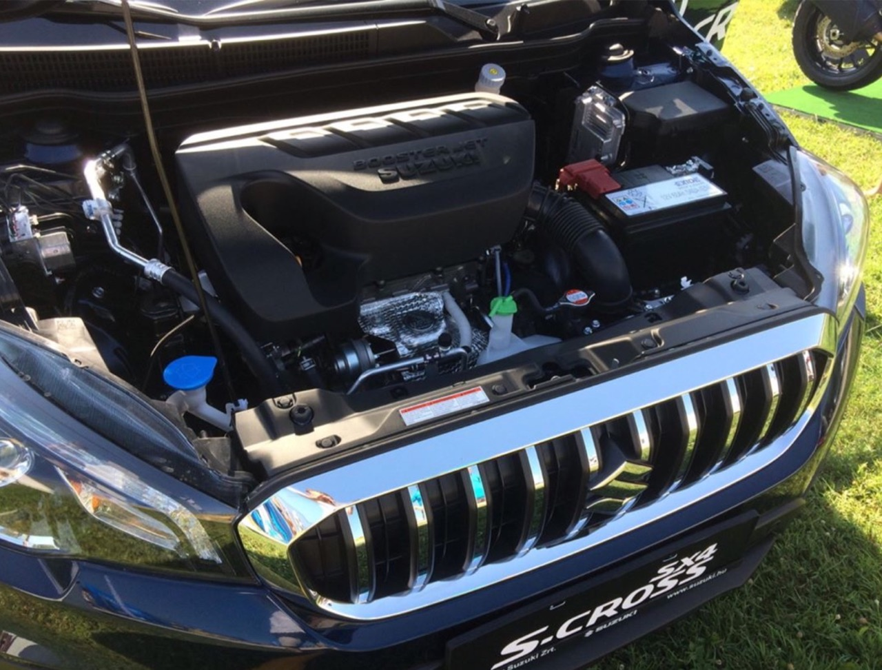 Suzuki S-Cross facelift engine bay photographed