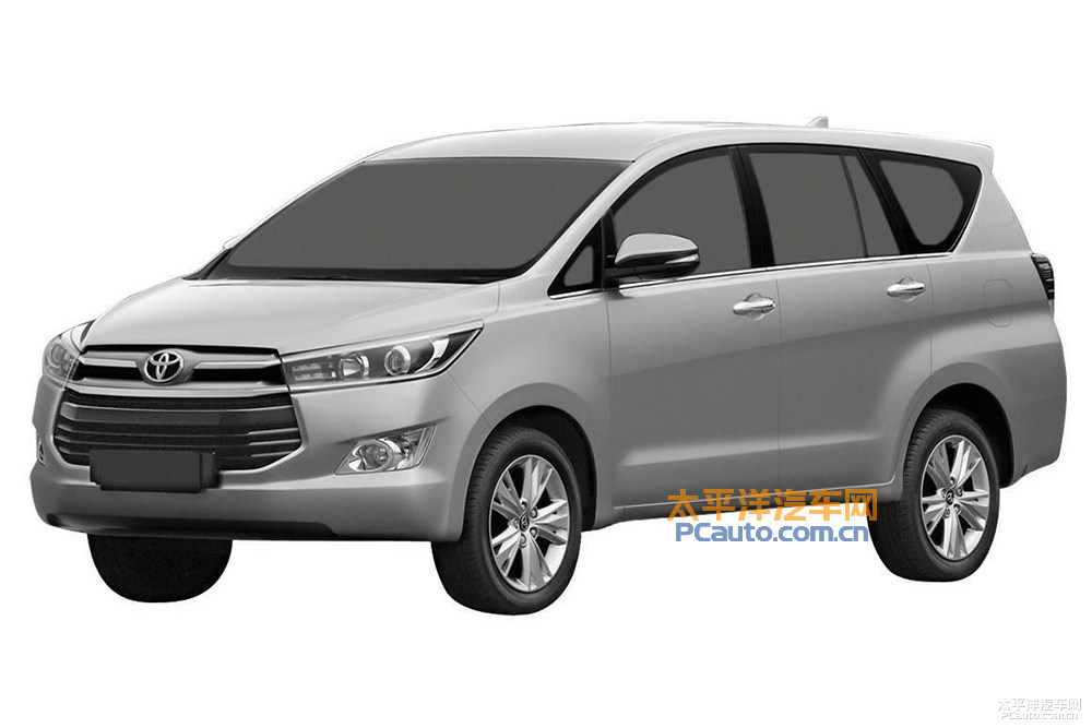 Toyota Innova Crysta front patented in China