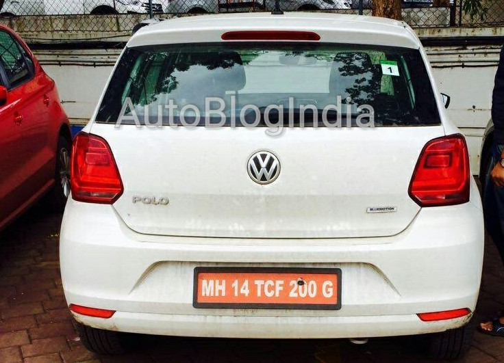 VW Polo TSI BlueMotion rear spied in India