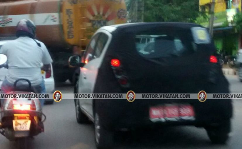 2017 Chevrolet Beat rear spied testing in India yet again