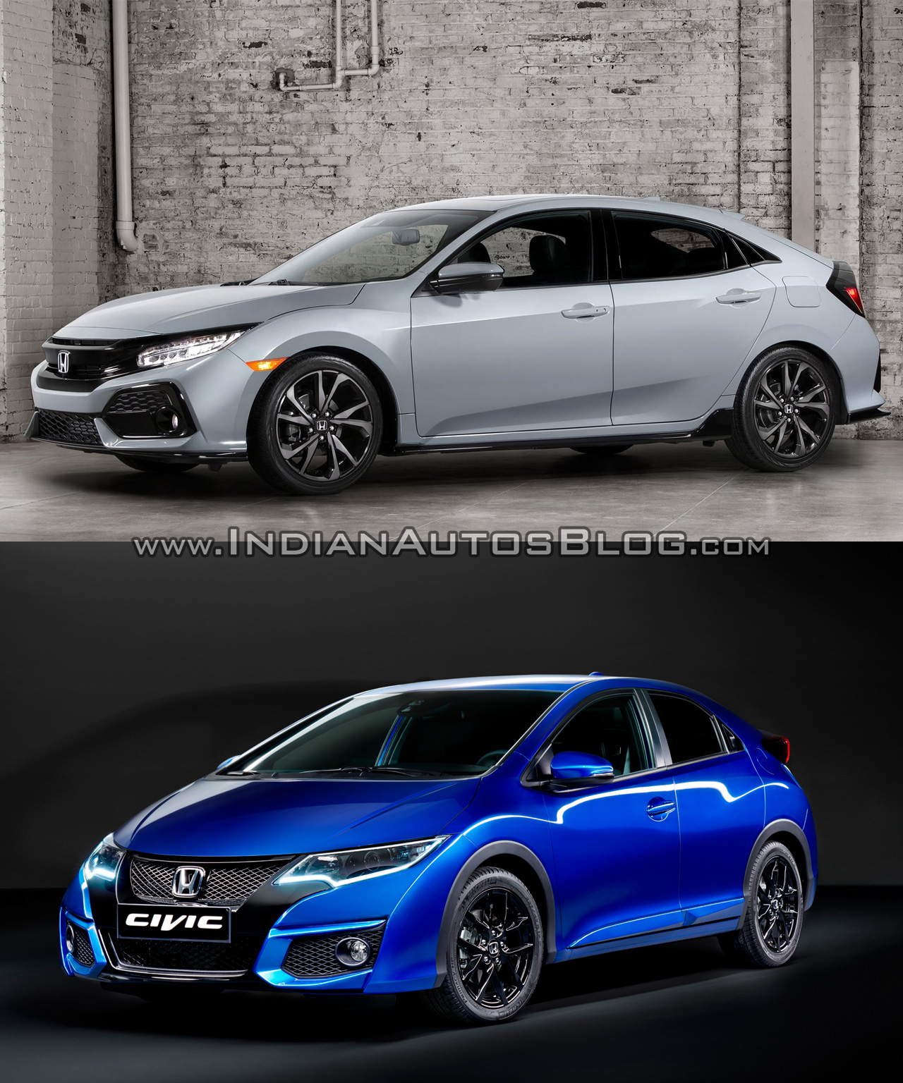 2017 honda civic hatchback vs older model old vs new. Black Bedroom Furniture Sets. Home Design Ideas