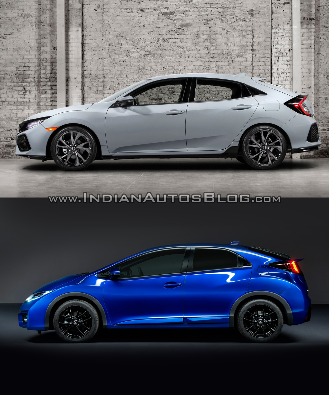 2017 honda civic hatchback vs 2015 honda civic hatchback side profile. Black Bedroom Furniture Sets. Home Design Ideas
