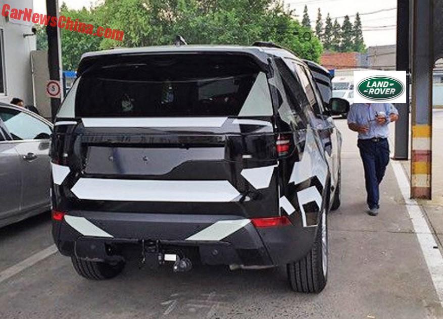 2017 Land Rover Discovery spy shot China