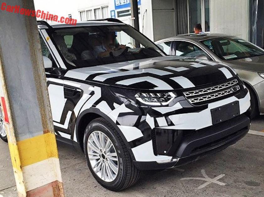 2017 Land Rover Discovery spyshot China