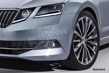 2017 Skoda Octavia (facelift) headlamp rendering