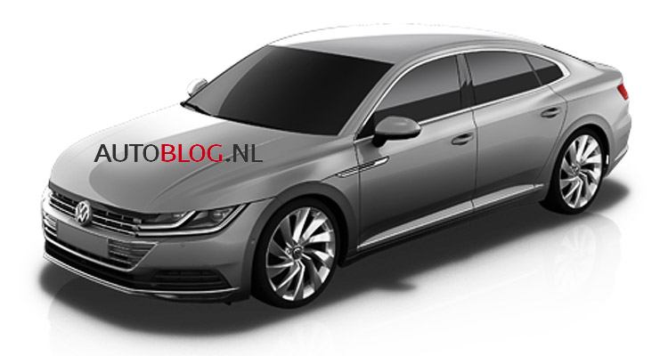 2017 VW CC front three quarters leaked image
