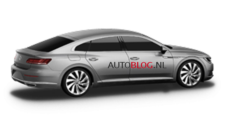 2017 VW CC rear three quarters leaked image