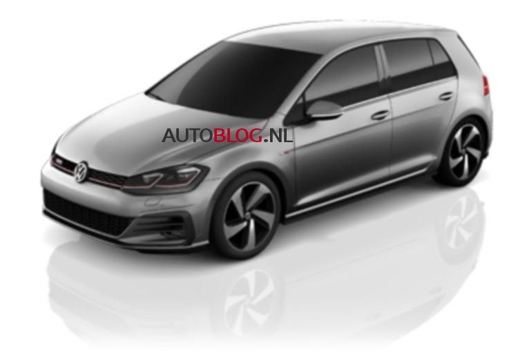 2017 VW Golf GTI (facelift) front three quarters leaked image