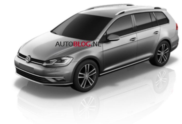 2017 VW Golf Variant (facelift) front three quarters leaked iamge