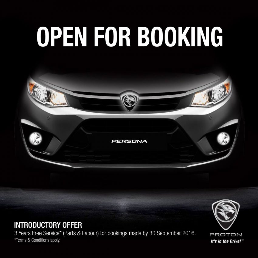 Bookings open for 2016 Proton Persona