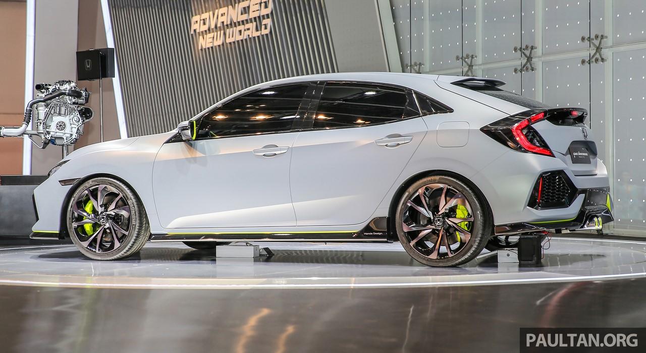 Honda Civic Hatchback Prototype exterior GIIAS 2016