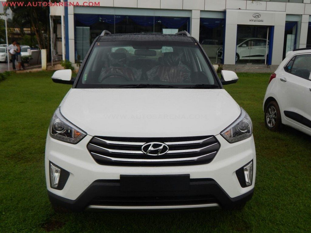 Hyundai Creta Anniversary Edition front arrives at dealership