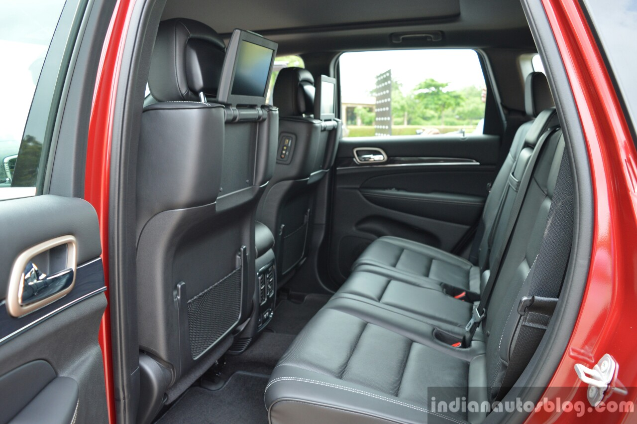 jeep grand cherokee rear seats launched in india. Black Bedroom Furniture Sets. Home Design Ideas