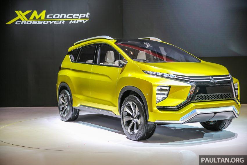 Mitsubishi XM (Honda BR-V rival) crossover front quarter revealed at GIIAS