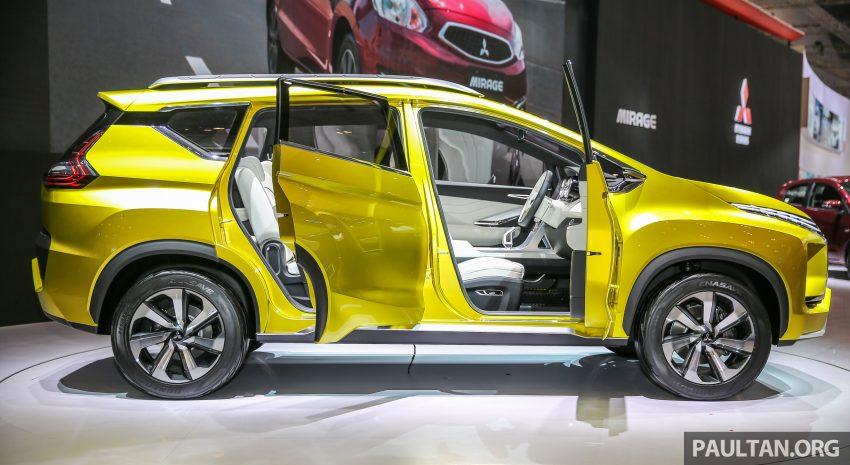 Mitsubishi XM (Honda BR-V rival) crossover side revealed at GIIAS