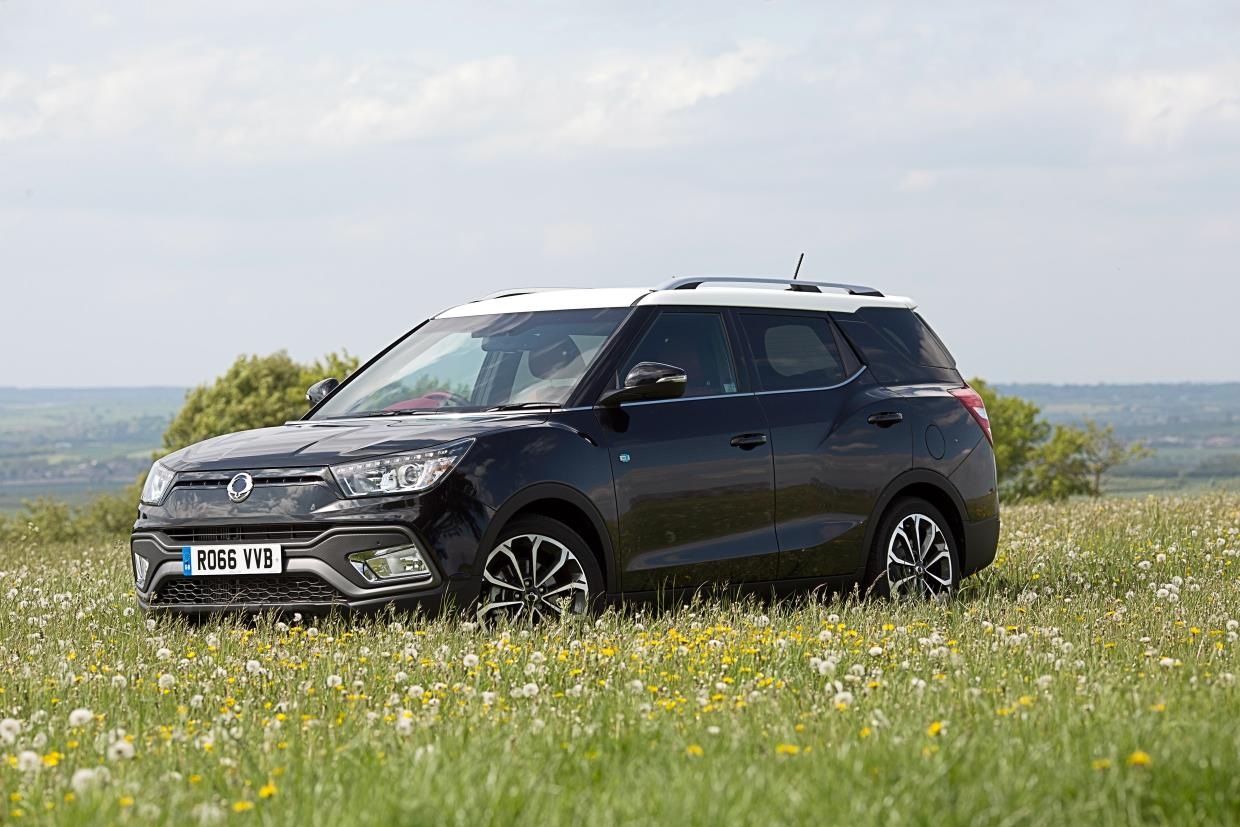 SsangYong Tivoli XLV front three quarters left side UK