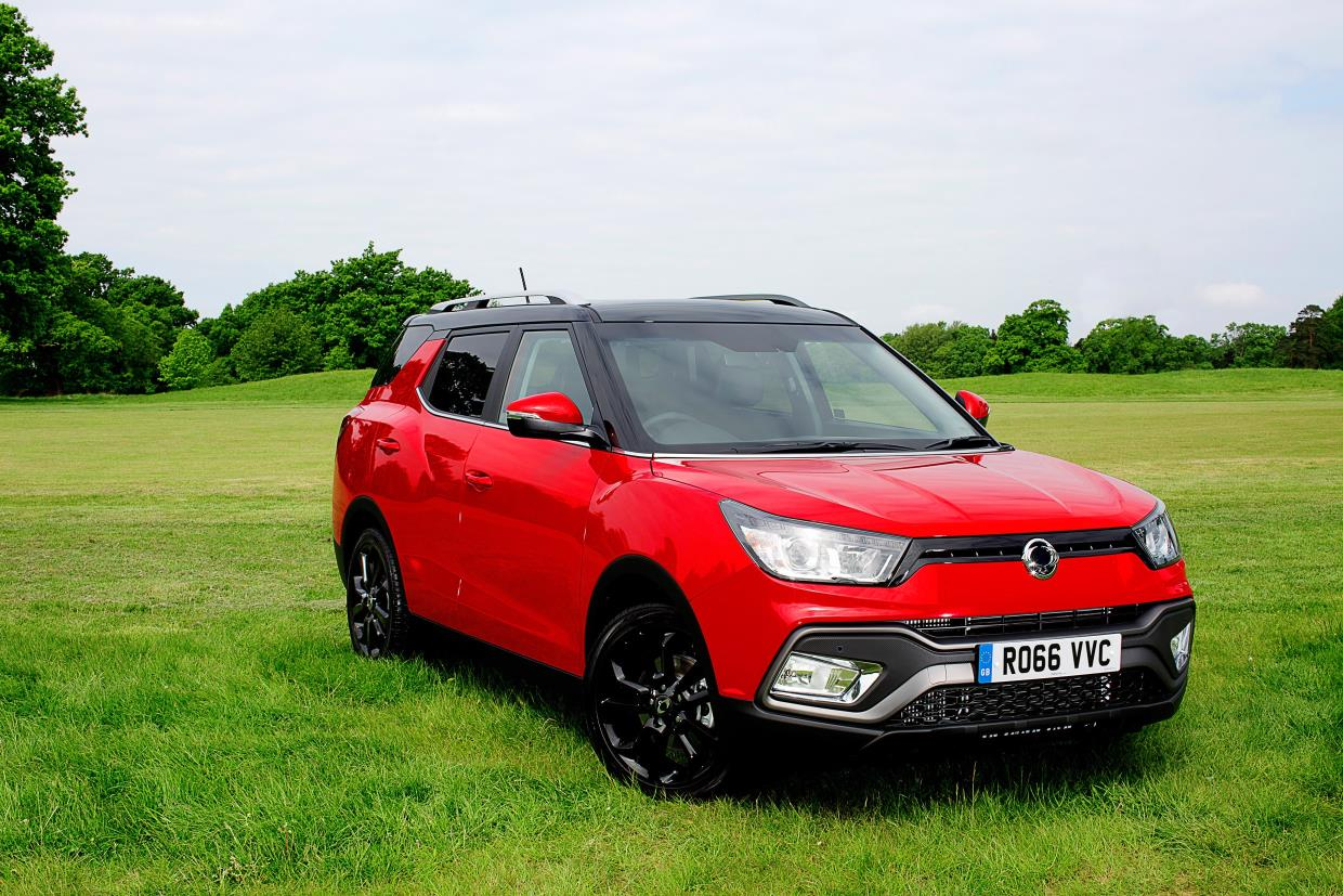 SsangYong Tivoli XLV front three quarters right side UK