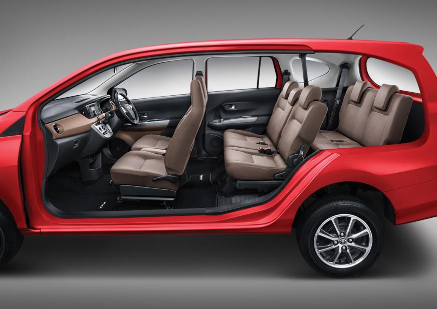 Toyota Calya interior seating layout