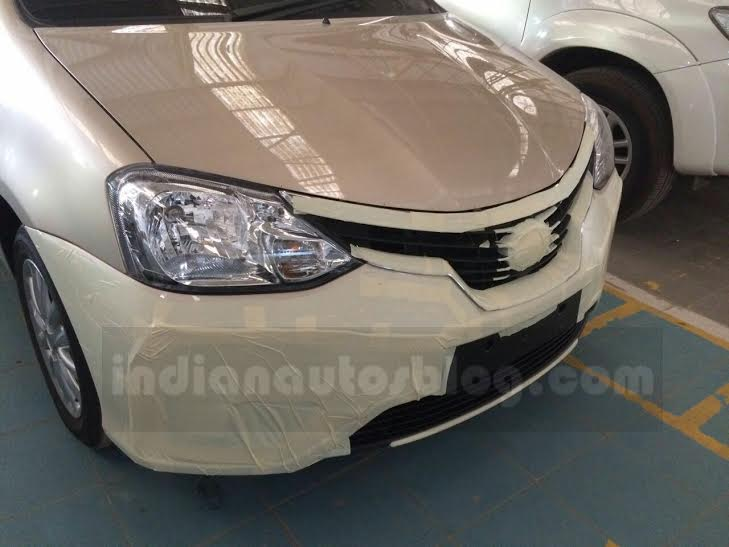Toyota Etios facelift front spied