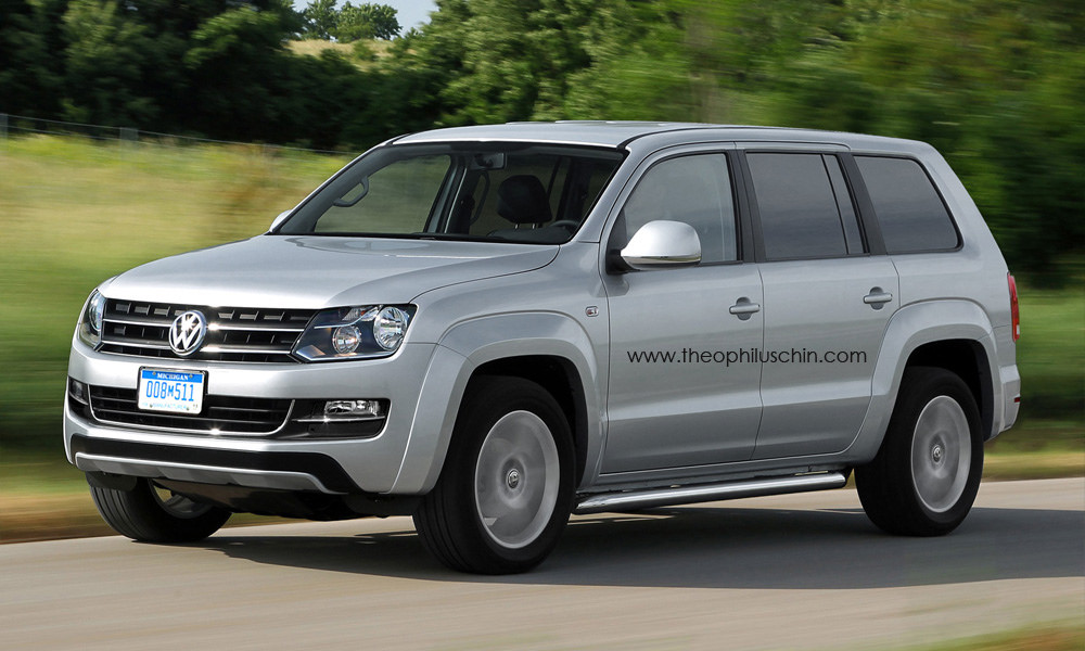 VW Amarok-based SUV front three quarters rendering