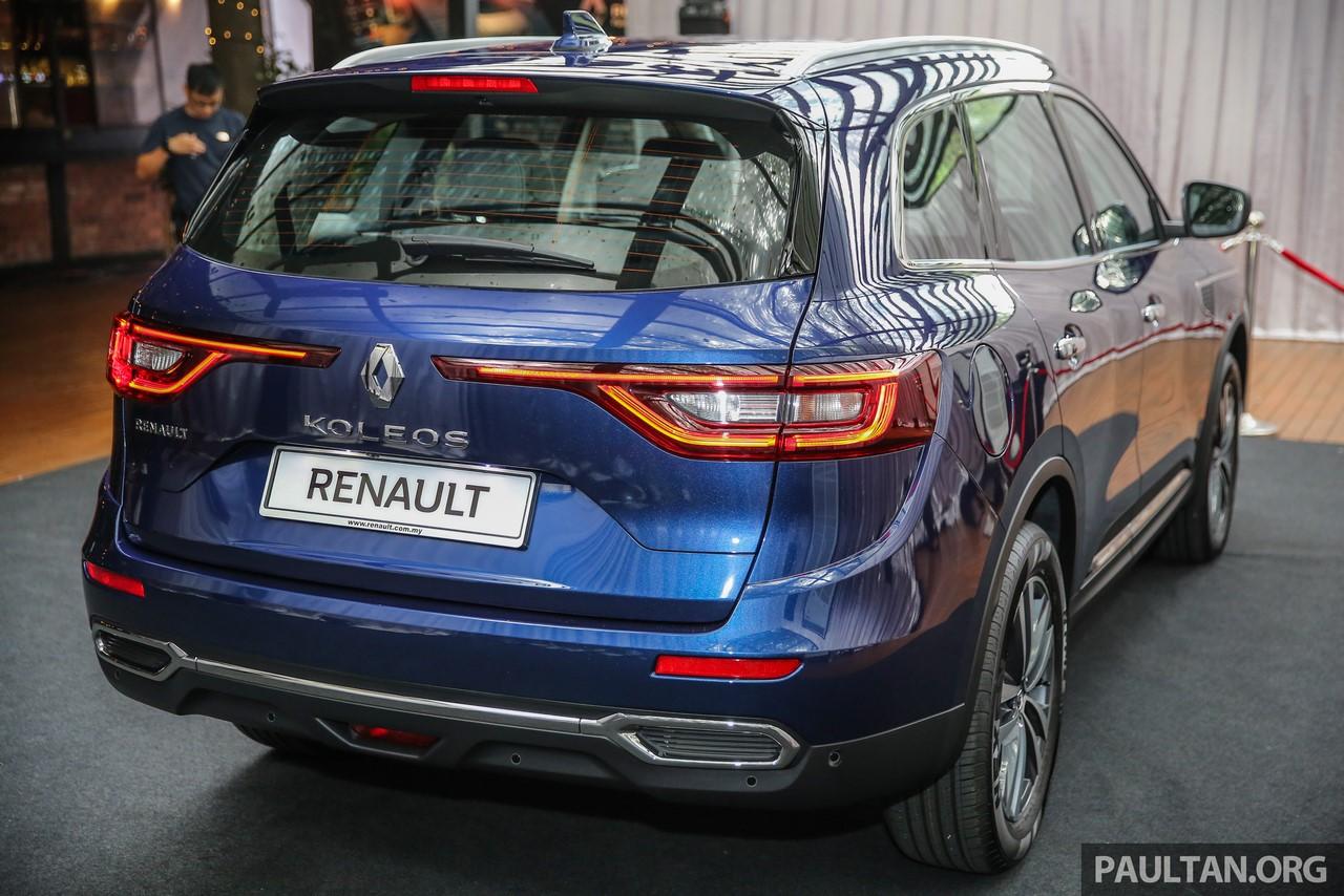 2016 renault koleos rear three quarters. Black Bedroom Furniture Sets. Home Design Ideas