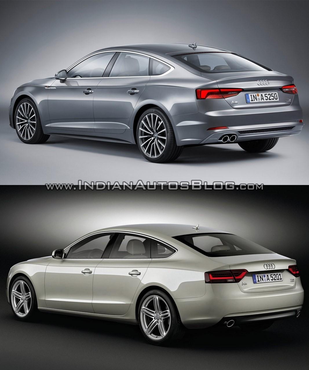 2017 Audi A5 Sportback Vs. 2012 Audi A5 Sportback Rear