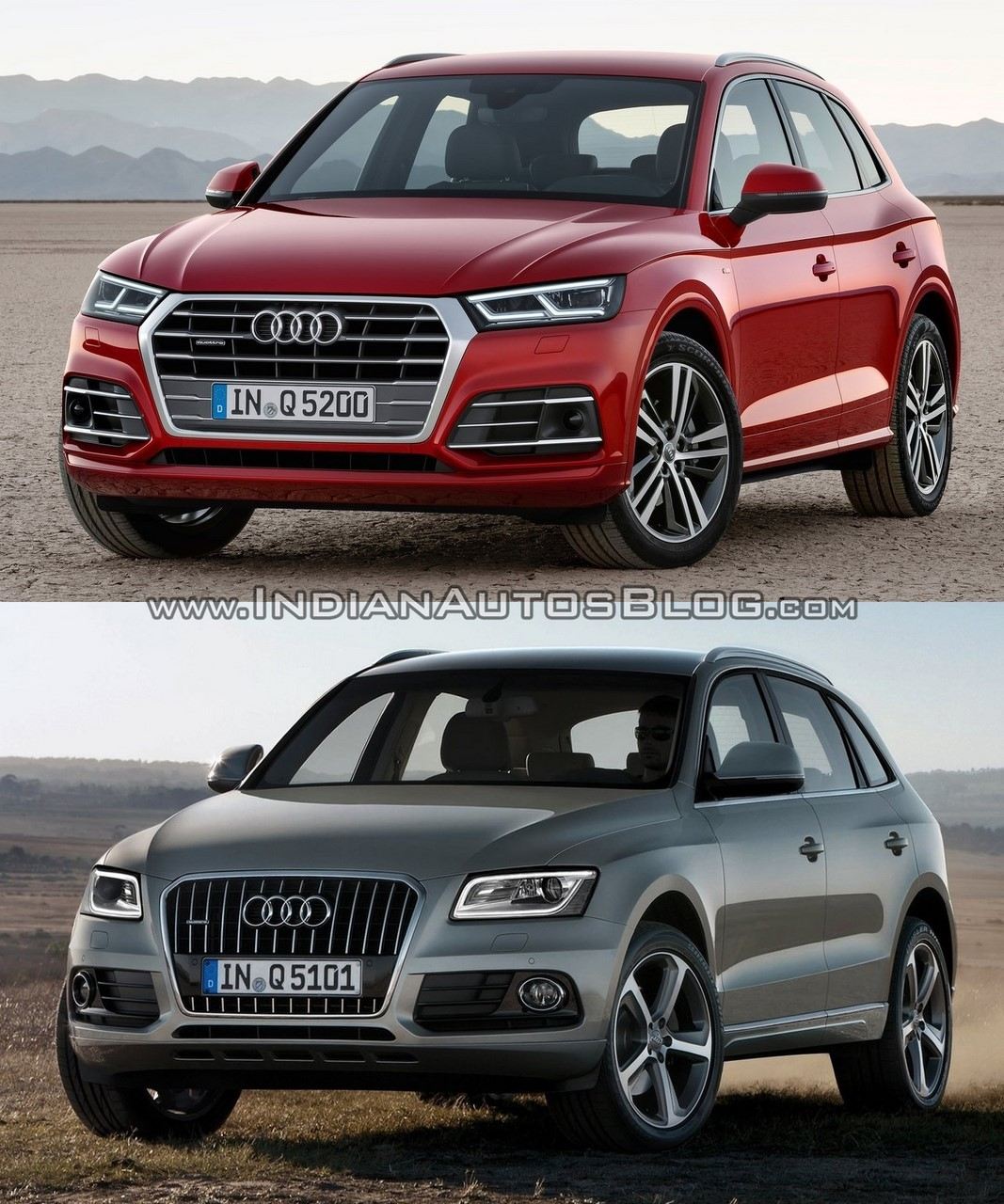2017 Audi Q5 vs. 2013 Audi Q5 front three quarters second image