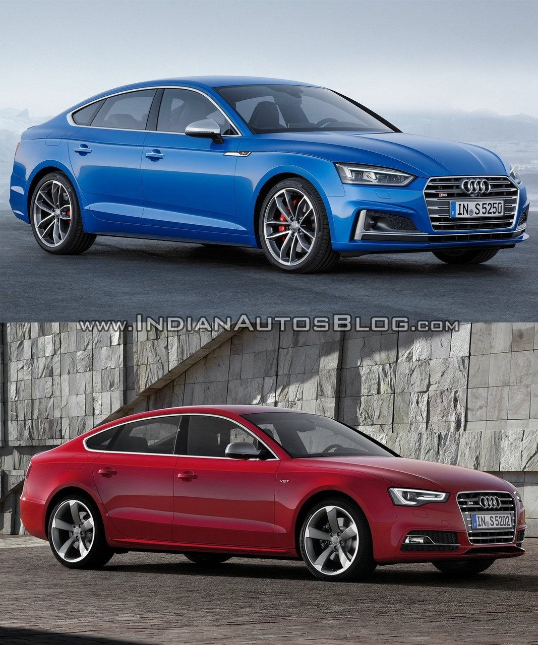 2017 audi a5 s5 sportback vs older model in images. Black Bedroom Furniture Sets. Home Design Ideas