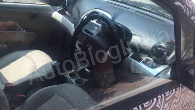 2017 Chevrolet Beat interior spied
