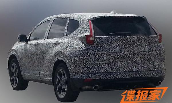 2017 Honda CR-V rear spied in China