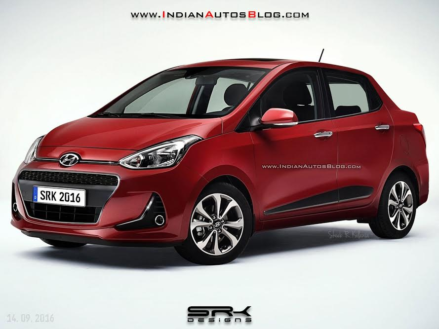 2017 Hyundai Xcent (facelift) - Rendering
